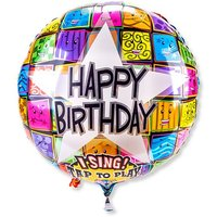 Singender Ballon Happy Birthday Faces