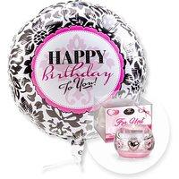 Ballon Happy Birthday Black and White und Dreamlight For You