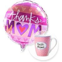 Ballon Thanks Mom und Tasse Beste Mama
