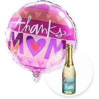 Ballon Thanks Mom und Piccolo Danke Mama