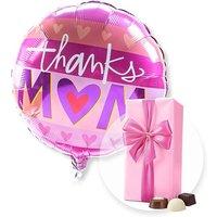 Ballon Thanks Mom und Belgische Pralinen
