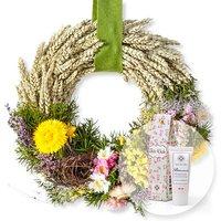 Türkranz Erntezeit (28cm) und Blütenrausch Pfingstrosen-Handcreme Für Dich