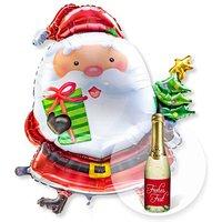 Riesenballon Santa Claus und Xmas-Goldtraum-Piccolo