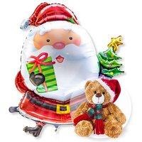 Riesenballon Santa Claus und Weihnachts-Teddy