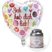 Ballon Ich hab dich lieb! und Für Dich Tee