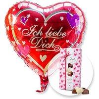 Ballon Ich liebe Dich und Herz-Pralinen-Trio
