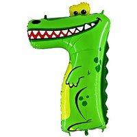 Tierischer Zahlen-Ballon 7 Krokodil