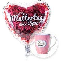 Ballon Zum Muttertag alles Liebe und Tasse Beste Mama