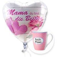 Ballon Mama du bist die Beste und Tasse Beste Mama