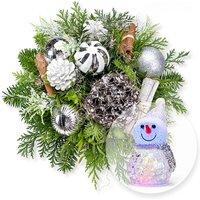 Winterfreude und LED-Schneemann