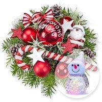 American Christmas und LED-Schneemann