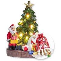 Nostalgischer Weihnachtsbaum mit LED-Licht,Süßer Adventsgruß (300g)