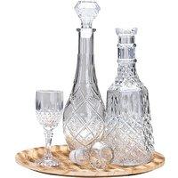 3teiliges Glas-Set aus zwei Karaffen und einem Glas