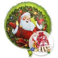 Ballon Nostalgie-Santa und Süßer Adventsgruß