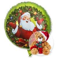 Ballon Nostalgie-Santa und Weihnachts-Teddy
