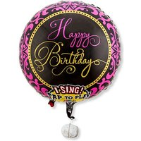 Singender Ballon Happy Birthday Glamour