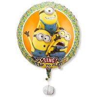 Singender Ballon - Geburtstagsgrüße lachende Minions