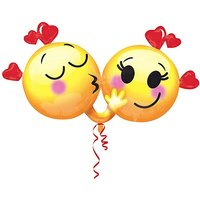 Riesenballon Emojis in Love