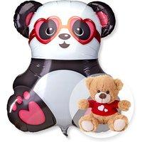 Riesenballon Panda in Love und Love-Teddy