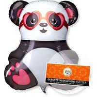Riesenballon Panda in Love und Schokolade Geburtstagskuchenersetzer