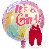Ballon Babygirl und Strampler rot