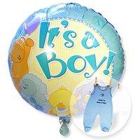 Ballon Babyboy und Strampler blau