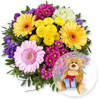 Alles Liebe und Glückwunsch-Teddy