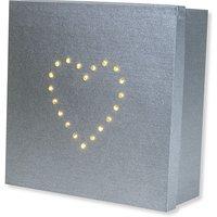 Geschenk-Box mit LED-Herz-Dekor (22cm)