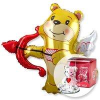 Riesenballon Amors Bär und Glasbär mit Herz