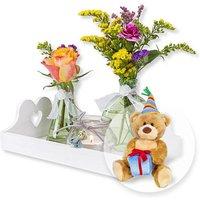 Vasen-Set Alles Liebe und Glückwunsch-Teddy