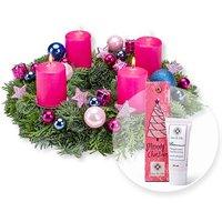 Adventskranz Adventsfunkeln (30cm) und Handcreme Merry Christmas