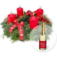 Adventskranz Advent, Advent (25cm) und Xmas-Goldtraum-Piccolo