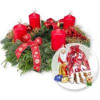 Adventskranz Advent, Advent (25cm) und Süßer Adventsgruß