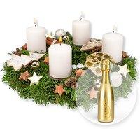 Adventskranz Goldene Zeit (30cm) und Bottega Prosecco Spumante Gold