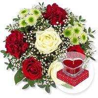 Romance und Herzkerze in Geschenkpackung