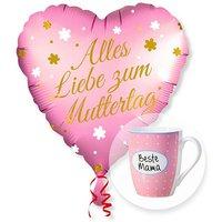 Ballon Alles Liebe zum Muttertag und Tasse Beste Mama