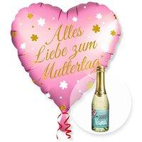 Ballon Alles Liebe zum Muttertag und Piccolo Danke Mama
