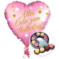 Ballon Alles Liebe zum Muttertag und Kaffeekränzchen