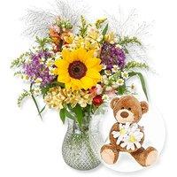 Sommerwiese und Blumenbote