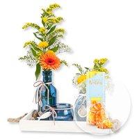 Vasen-Set Sommergruß und Fruchtgummi Happy Birthday