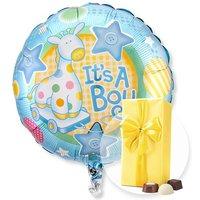 Ballon Babyboy und Belgische Pralinen