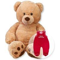 XL-Teddybär Rico und Strampler rot