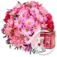 Blütenzauber und Glasbär mit Herz