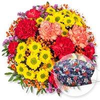 Alles Liebe und Mund-Nasen-Schutz Chrysantheme