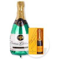 Riesenballon Sekt-Flasche und Champagner Veuve Clicquot