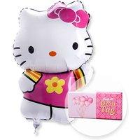 Ballon Hello Kitty und Schokolade Dein Tag