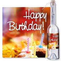 Flaschenpost Happy Birthday