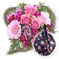 Von Herzen und Easy Bag Round XL Chrysantheme