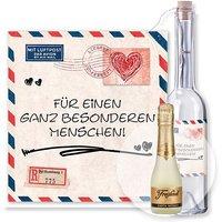 Flaschenpost Airmail und Freixenet Semi Seco