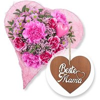 Beste Mama und 3D-Holz-Herz Beste Mama
